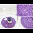 Orgonalila egyedileg készített horgolt szőnyeg pólófonalból