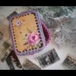 Horgolható fa alap KARÁCSONY - emlékdoboz készítő szett