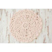 Fáradt rózsaszín (hússzín) egyedileg készített horgolt szőnyeg pólófonalból