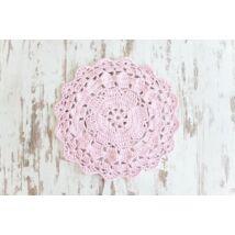 Pasztel rózsaszín egyedileg készített horgolt szőnyeg pólófonalból