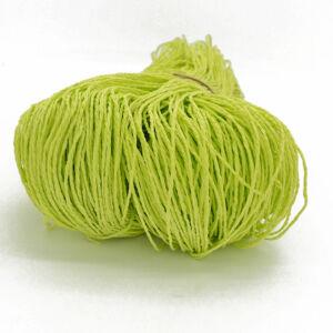 Természetes szalma fonal szalmahatású táskához, kalaphoz - halvány zöld