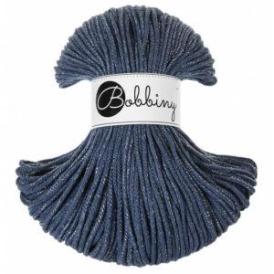 Bobbiny Zsinórfonal Junior 3 mm -Csillogó - jeans ezüstszálas