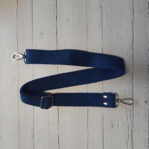 Heveder pánt táskafül karabínerrel 70-120 cm - kék