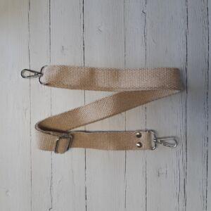 Heveder pánt táskafül karabínerrel 70-120 cm - krém