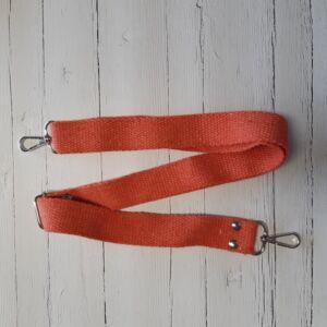 Heveder pánt táskafül karabínerrel 70-120 cm - narancs