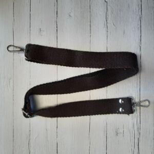 Heveder pánt táskafül karabínerrel 70-120 cm - sötétbarna