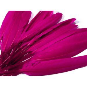 Dísz kacsa toll hossza 9-14 cm - ciklámen