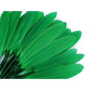 Dísz kacsa toll hossza 9-14 cm - zöld