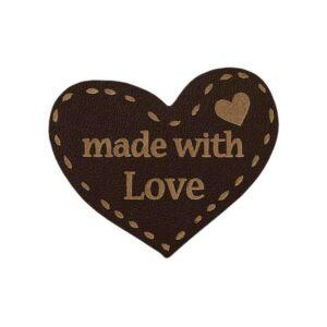 Mono Quick vasalható/varrható Handmade felirat - szív