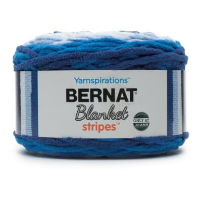 Bernat Blanket Stripes - Clear sky