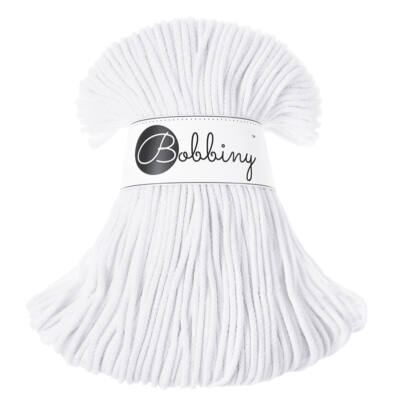 Bobbiny Zsinórfonal Junior 3 mm -  fehér  - 100 m