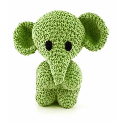Hoooked amigurumi szett - Mo az elefánt - Lima green