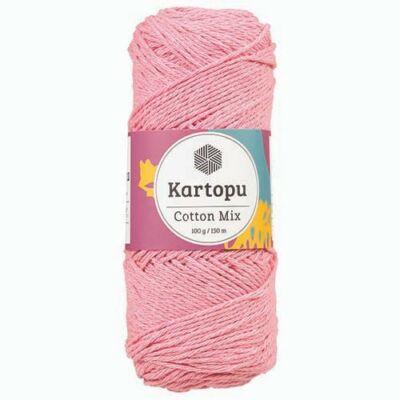 Kartopu Cotton mix cekkerfonal - rózsaszín