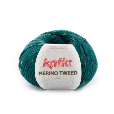 Katia Merino Tweed - Smaragd zöld
