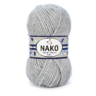 Nako Mohair Delicate Bulky - Világosszürke Melange