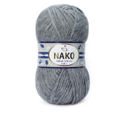 Nako Mohair Delicate Bulky - Középszürke Melange