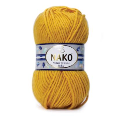 Nako Mohair Delicate Bulky - Mustár