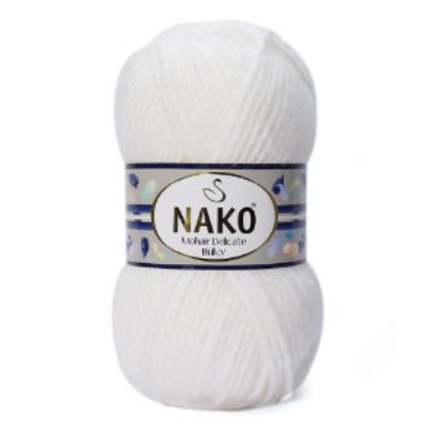 Nako Mohair Delicate Bulky - Fehér