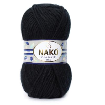 Nako Mohair Delicate Bulky - Fekete