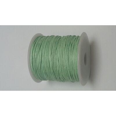 Viaszolt pamut zsinór 1 mm - világos zöld