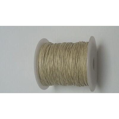 Viaszolt pamut zsinór 1 mm - natúr