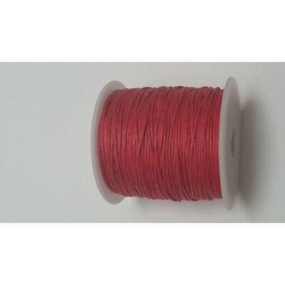 Viaszolt pamut zsinór 1 mm - piros