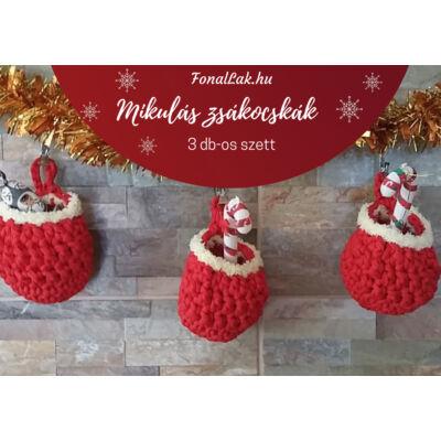 Karácsonyi DIY szett - Mikulászsákok 3 db-os