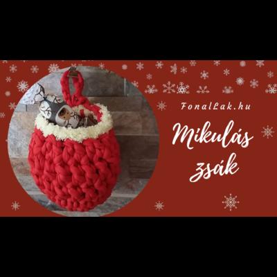 Karácsonyi DIY szett - Mikulászsákok 1 db-os
