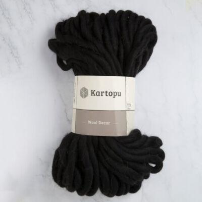 Kartopu Decor Wool 100% gyapjú fonal - fekete