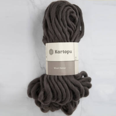 Kartopu Decor Wool 100% gyapjú fonal - sötétbarna