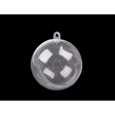 Műanyag szétnyitható karácsonyi gömb - 6 cm