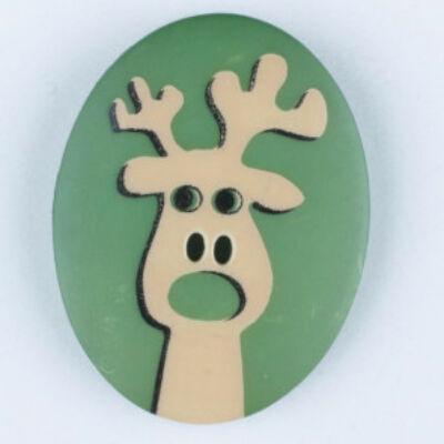 Dill gomb - Karácsony - Rudolf - zöld