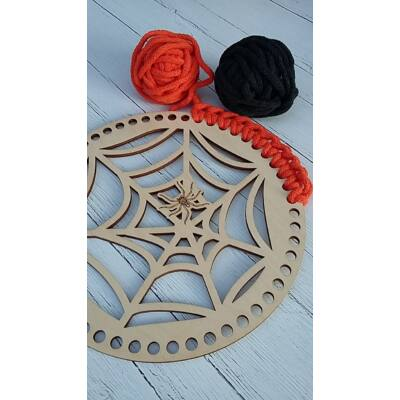 Horgolható fa alap - Pókhálós Halloween dísz MOST SZETTBEN!