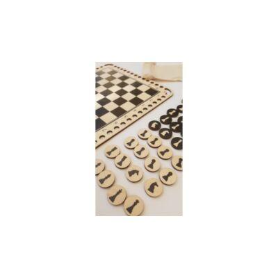 WSC Horgolható fa alap KARÁCSONY - horgolható sakkészlet