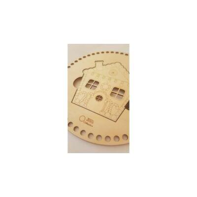 WSC Horgolható fa alap KARÁCSONY - Mézeskalács házikó - ajtós elem