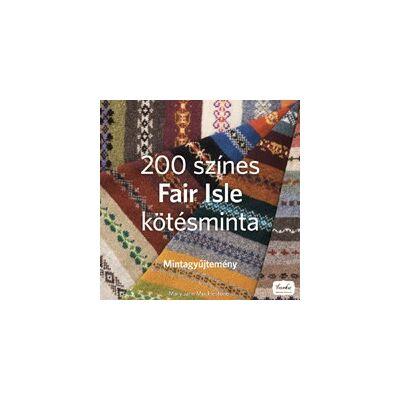 200 színes Fair Isles kötésminta