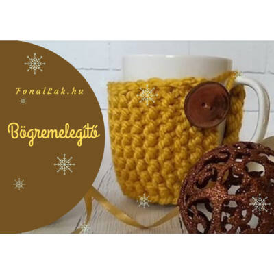 Karácsonyi DIY szett - Bögremelegítő - Ekrü