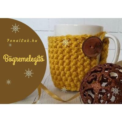 Karácsonyi DIY szett - Bögremelegítő - Mustár