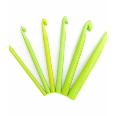Akril zöld horgolótű szett 6 db-os