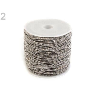 Lurex zsinór 1 mm - ezüst