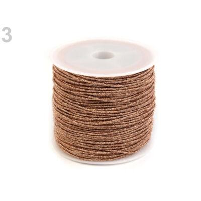 Lurex zsinór 1 mm - rézsárga