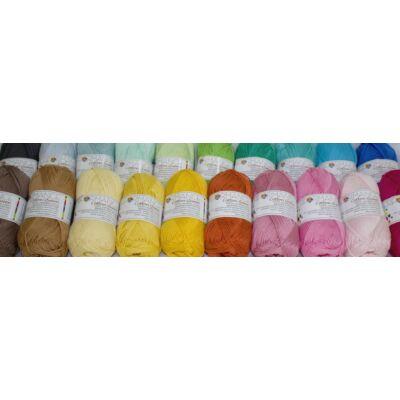 Pamut-akril fonal pasztel színekben