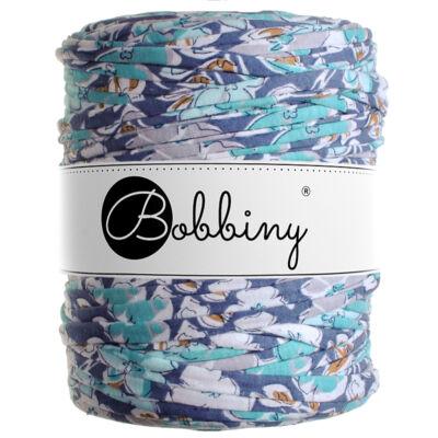 Bobbiny pólófonal - flower power kék-MINI