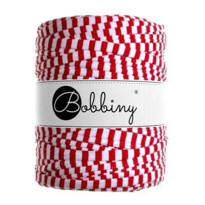 Bobbiny pólófonal - piros-fehér csíkos
