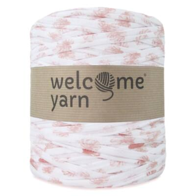 Welcomeyarn pólófonal - fehér virágmintás