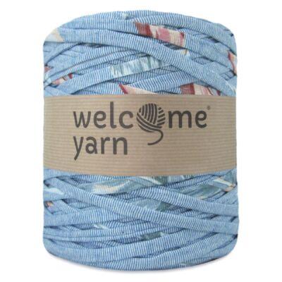WelcomeYarn pólófonal - Kék csíkos mintás