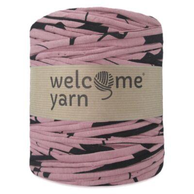 WelcomeYarn pólófonal - antik rózsaszín fekete mintás