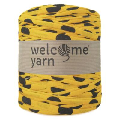 WelcomeYarn pólófonal - sárga fekete pöttyökkel