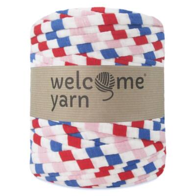 WelcomeYarn pólófonal - színes csíkok-élénk