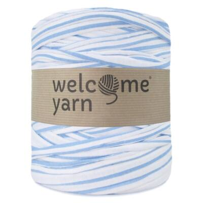 WelcomeYarn pólófonal - kék és fehér